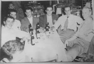 Dad out on the town with St. Louis University buddies, 1950