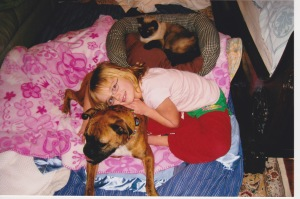For years our family slept together in the Master bedroom- pets and all
