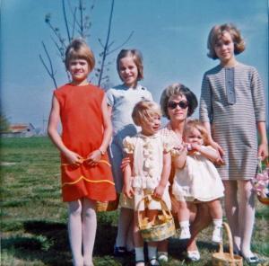 My beautiful Mom and her 5 girls. 1967