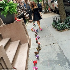 Like Carrie Bradshaw, each morning I awoke to a boutiquey trail of shoes down my steps and to the front door.